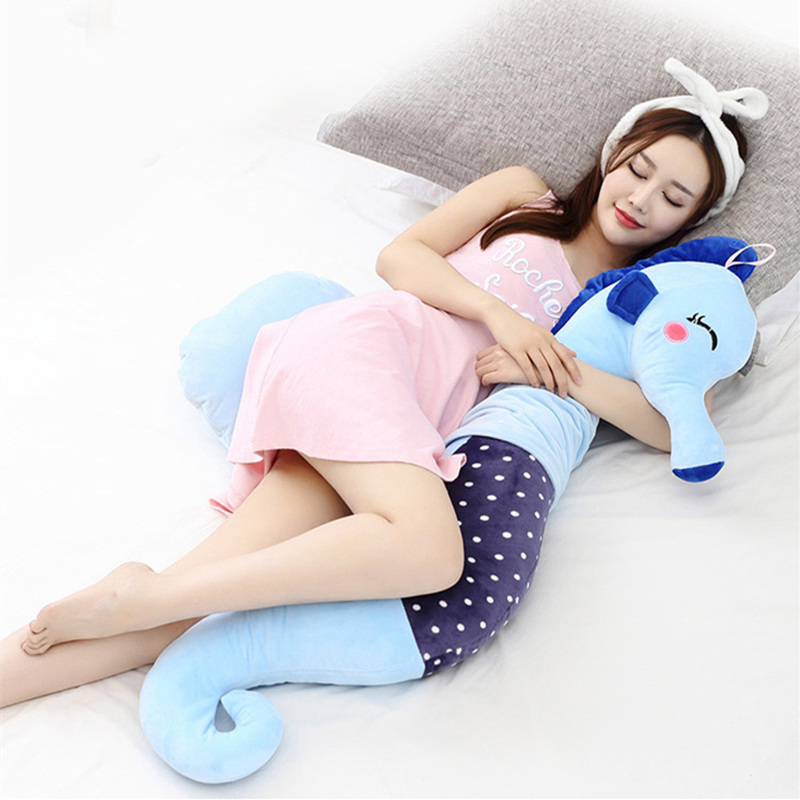 Cartoon Hippocampus Pregnant Pillow Waist H Type Multi-functional Sleeping Side Pillow Protect Abdominal Nursing U Soft Cushions pregnant women u type pillow multi functional sleep with pillow to protect the waist side sleep bed belly pillow