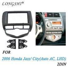 Автомобильная арматура dvd рамка/панель dvd/аудиокадр для 2006 Honda Fit/Jazz(Авто AC, LHD), 2DIN
