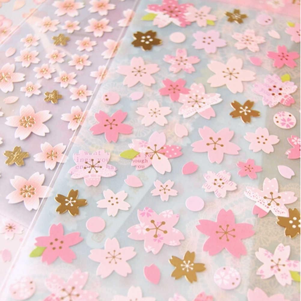1 folha Japão Estilo da flor de Cerejeira Oriental Diário Deco Scrapbooking Mascaramento Adesivo PVC Material Toy Kids Adesivos Hot