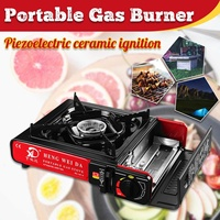 2900W Portable Camping Gas Burner Butane Cooking Stove Wind Shield Outdoor Picnic BBQ Cooker