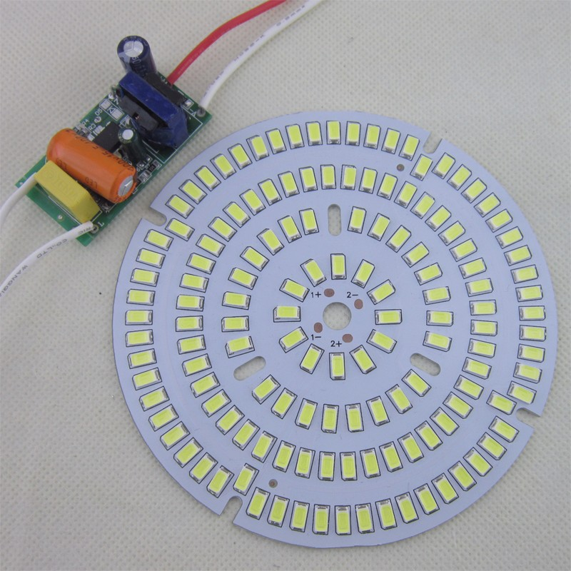 5set LED PCB with AC 220V driver 30W 50W 70W 100W SMD5730 aluminum plate module bulb panel for led high bay light Factory lights 50w led pcb with smd5730 integrated ic driver aluminum plate free shipping