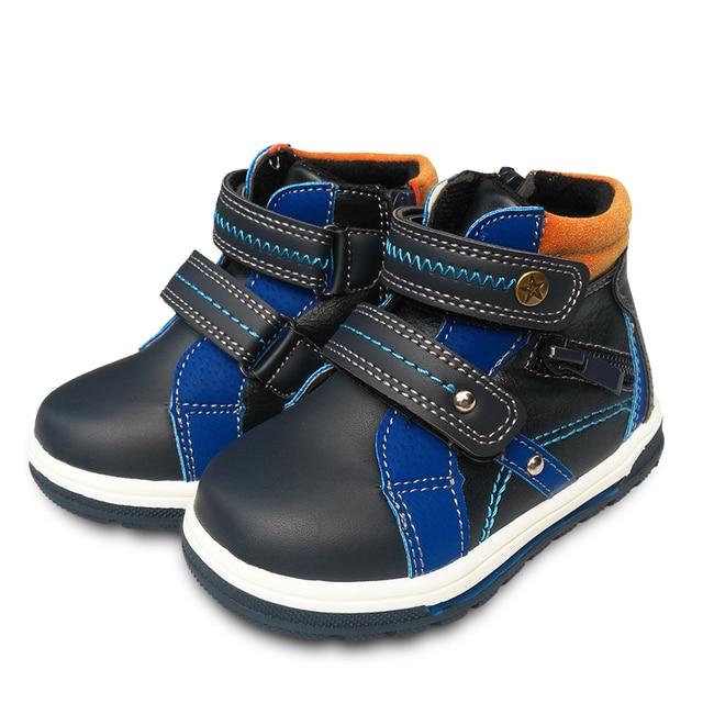5a4a019fbd32e Super qualité 1 paire en cuir baskets enfants garçon chaussures ...