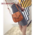Miyahouse Vintage Hollow Out Women Messenger Bag Fashion Knitting Shoulder Bag Lady Handbags Portable PU Leather Crossbody Bags