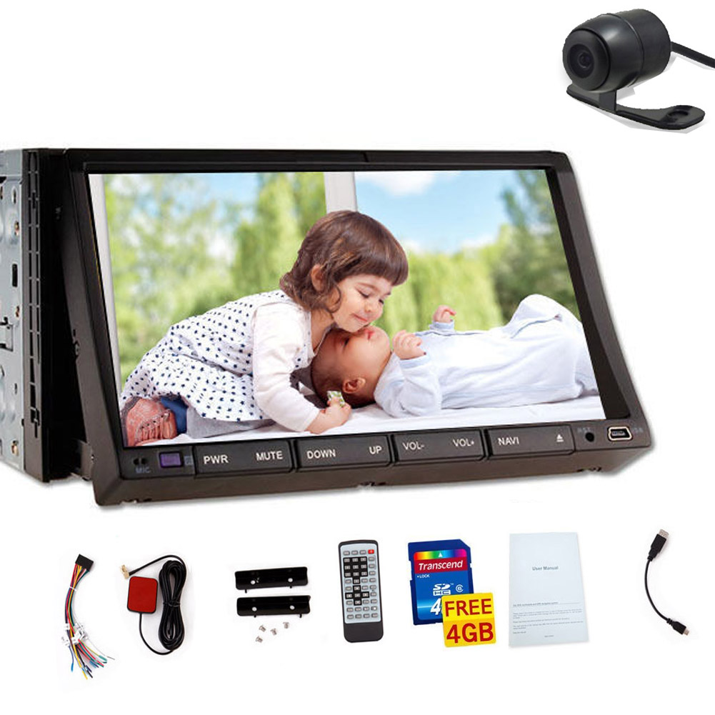 IPod Car DVD Player FM Autoradio AMP Auto Logo Electronics Touchscreen Music 7 GPS Stereo Audio Radio SD MP5 MP4