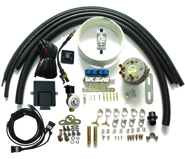 Most easy and simple Propane LPG sequential  Injection Conversion Kits for 3 or 4 cylinders gasoline fuel injected vehicle