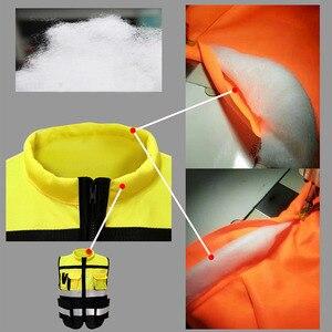 Image 5 - Светоотражающий Жилет высокой видимости, предупреждающий жилет, флуоресцентная одежда с множеством карманов, уличная безопасность, рабочая одежда для дорожного движения