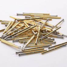 100 Pcs/Package Copper Nickel Plated Electronic Probe Pin P125-H Pin Total Length 33.35mm Spring Test Probe Test Accessories p125 a2 cup type head test spring thimble 100 pcs pack integrated detection probe tool accessories