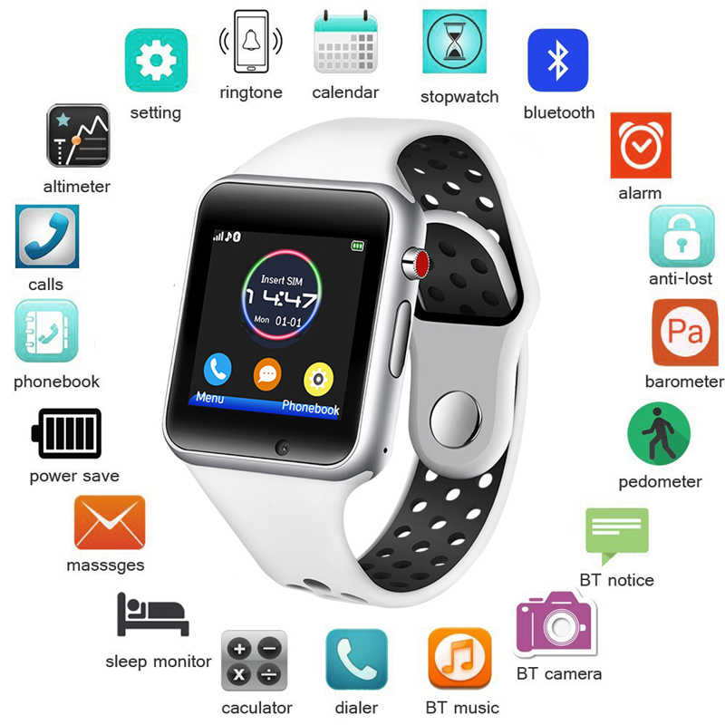 LIGE 2019 New Men Women Smart Watch Sport waterproof LED Color Touch Ccreen Digital Watch Support SIM Camera For Android IOS+Box