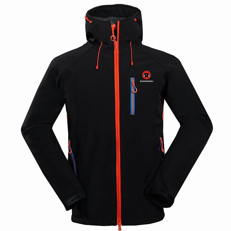 2019 Outdoor Softshell Male Waterproof Jacket Camping Hiking Outdoor Sports Brand Clothing Windbreaker Skiing Thermal Jacket
