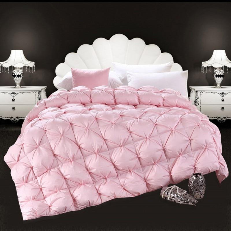 winter white goose down comforter warm duvet quilted thicken 100 cotton