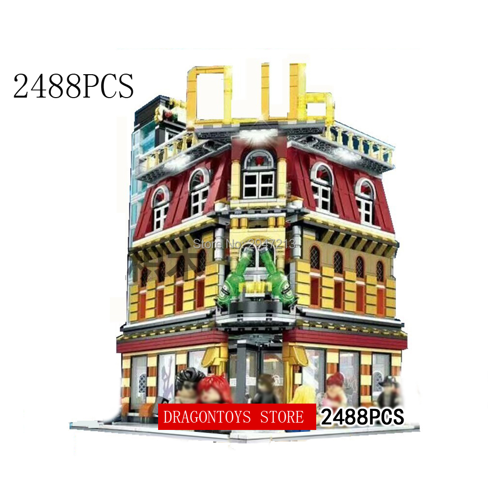 hot compatible LegoINGlys city light Street view bar nightclub MOC Building Blocks model with figures bricks toys for Children compatible lepin city mini street view building blocks chinatown satin silk store with saleman figures toys for children gift