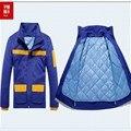 Yemingduo Invierno de manga larga ropa de trabajo ropa de trabajo ropa de trabajo antiestática reflexivo chaqueta wadded 180 series conjunto