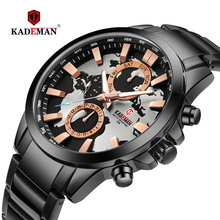 2019 Luxury Mens Watches New Casual Business Quartz Watch Map Design Sports Wristwatch 3ATM Full Steel Fashion Relogio Masculino