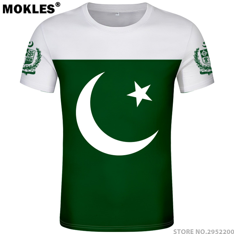PAKISTAN t shirt diy brezplačno po meri ime številka pak t-shirt - Moška oblačila - Fotografija 1