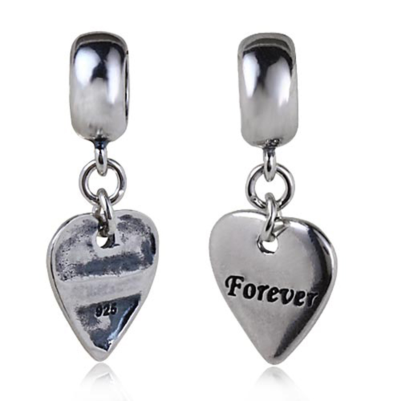 Pandora Jewelry Free Shipping: Real 925 Sterling Silver Forever Heart Pendant Fits For