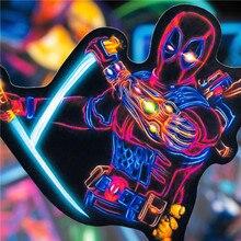 Neon Super Hero Stickers Marvel Sticker Skateboard Motorcycle Luggage Stickers For Laptop Set Pvc Waterproof Superhero Poster