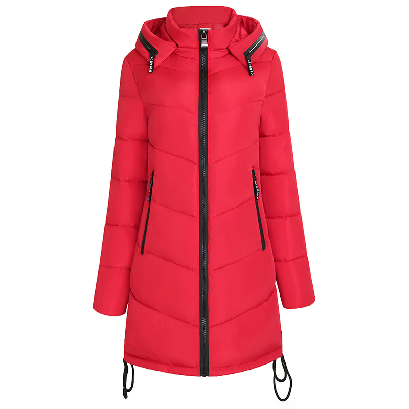 Winter Coat Women High Quality Casual Parkas  Hooded Women Coat Warm Cotton Woman Long Coat Fashion Female Jacket Outwear 4L41 winter jacket women new fashion hooded long outwear down cotton parkas ladies thick warm korean loose coat high quality parkas