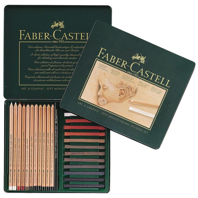 Gribouiller gribouiller stylo FABER CASTELL 25 pièces de crayon esquisse article combinaison carbone 112969