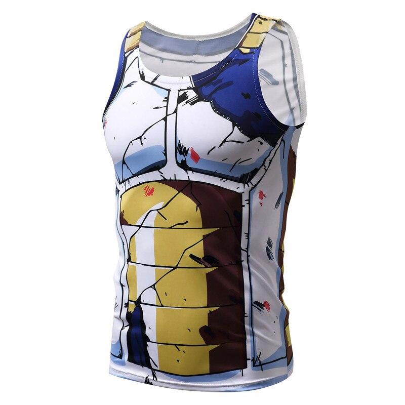 Parte Superior Do Tanque de Fitness Vegeta Goku Super Saiyan Dragon ... 7a5c29b658b
