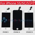 Negro asamblea lcd con pantalla táctil digitalizador asamblea de cristal digitalizador no pixel muerto para iphone 5s/5c/5g display envío gratis