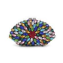 2016 heißer Verkauf Top Klappe Tageskupplungen Einzigen Europäischen Damen Fan Diamant Abendessen Abendtasche Voller hochgradigen Bankett Bohrer Hand