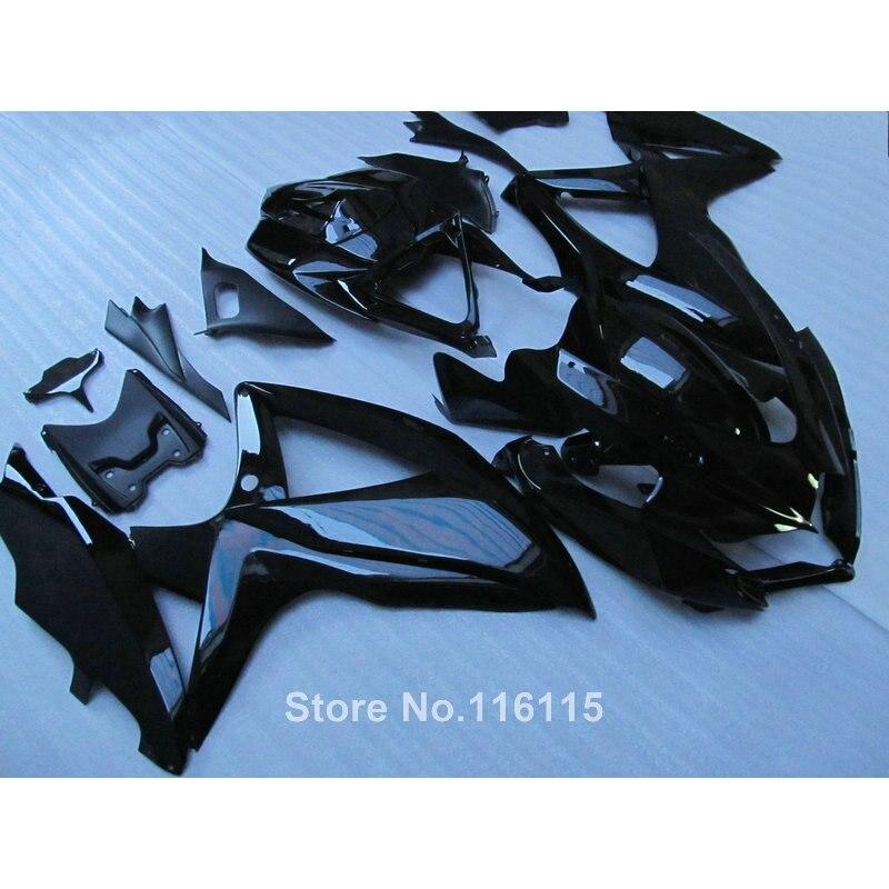 Injection de haute qualité kit de carénage pour SUZUKI K8 GSXR 600 700 2008 2009 2010 GSXR600 GSXR750 08 09 10 tout noir carénages en plastique X