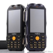 TKEXUN Q8 аналоговый ТВ телефон большая батарея Внешний аккумулятор Супер двойной фонарик 3,5 дюймов сенсорный экран двойная Sim мобильный телефон