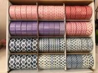 60 Rolls Set Blue And White Porcelain Craft Washi Tape Set Christmas Decorative Tape Sets