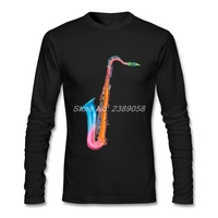 2016 Fashion Autumn Winter Men S Tee Shirt Saxophone Classic Clothes O Neck Long Sleeve T