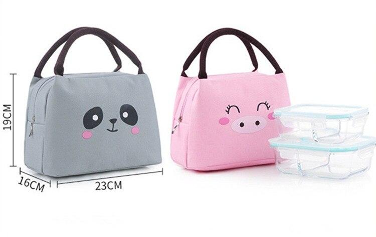 Милая мультяшная портативная утолщенная сумка для еды Термосумка