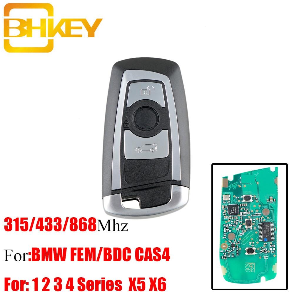 BHKEY 3Buttons Smart Remote Key Keyless Fob For BMW Cas4 315/433/868Mhz For BMW FEM / BDC CAS4 CAS4+ 2011-2017 Car keys