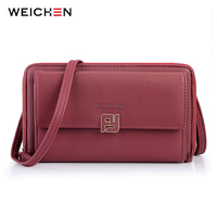WEICHEN Multifunction Mini Shoulder Bag Female Faux Leather Messenger Bag Women Small Purse Red Ladies Crossbody