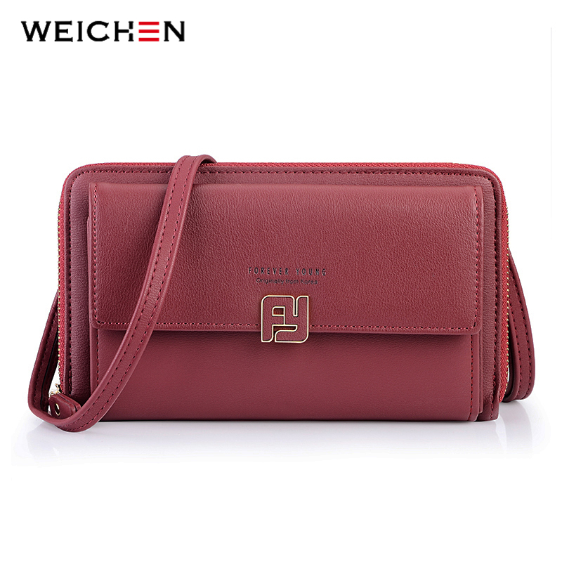 WEICHEN Multifunction Mini Shoulder Bag Female Faux Leather Messenger Bag Women Small Purse Red Ladies Crossbody Large Clutch