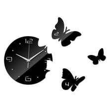 2016 New Wall Clock Diy Ciocks Quartz Watch Acrylic Mirror 3d Stickers Living Room Europe Needle Reloj De Pared Horloge Murale