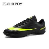 Chaussures de football pour hommes chaussures de football d'intérieur pour enfants baskets gazon superfly futsal bottes de football originales confortables imperméables