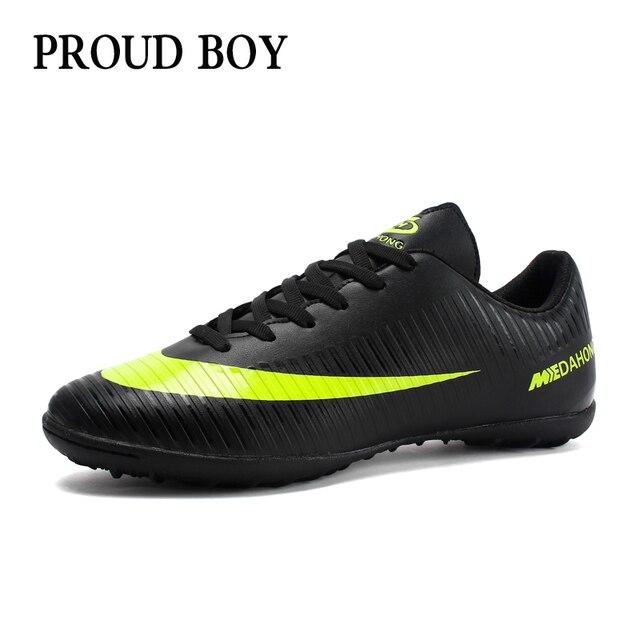 Futebol Sapatos para homens Crianças indoor Sapatos de futebol tênis turf  superfly chuteiras futsal originais Confortável fed123b94b0c4