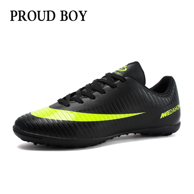 d884bc8ec94 Soccer Shoes for men Kids indoor football Shoes sneakers turf superfly  futsal original football boots Comfortable Waterproof