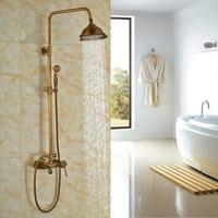 Масло втирают Бронзовый закончил бортике Ванная комната смеситель для душа 8 Насадки для душа с ручной душ