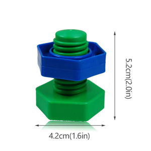 Image 5 - 5 セットベビー 3D パズル子供建物のパズルのおもちゃゲーム子供のため 3 年知育玩具心構築ねじナットセットモンテッソーリ