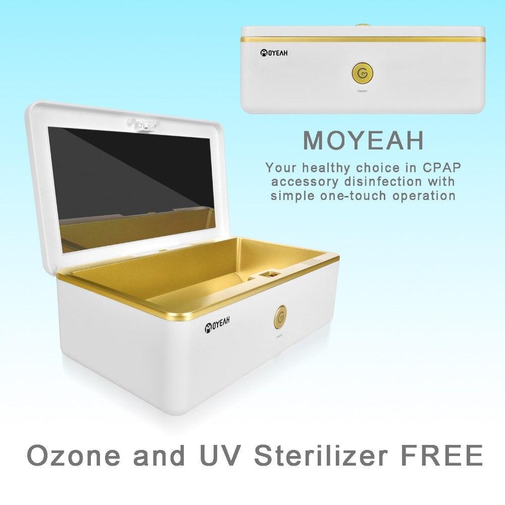 MOYEAH CPAP nettoyant et désinfectant CPAP nettoyant fournit sans Ozone UV pour masque CPAP et Tubes d'air respirateur à Tube Machine
