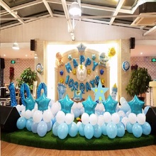 Five Star Balloon 18inch Happy Birthday Party Pentagram Foil Balloons Blue Red Wedding Decoration Celebration Inflatable