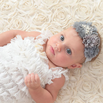 20pcs/lot 10Colors Baby Girls Double Shabby Flowers with Tiara Headband Baby Hair Accessory Kidocheese