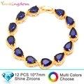 Yunkingdom super luxury brand Bracelets&Bangles for women inlay water drop   zircon wedding Jewelry  gold plated Bracelet