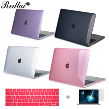 Redlai Hard Case For Macbook New Pro 13 15″ Touch bar Crystal Clear Laptop Case For Mac Air Pro Retina 12 13 15 + Keyboard Cover