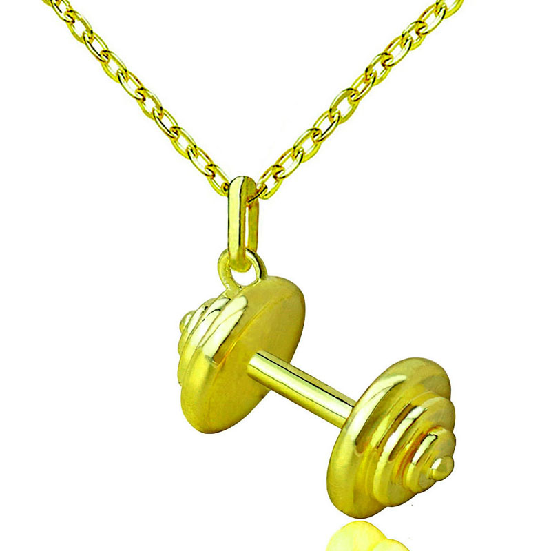 Barbell Dumbbell Pendant Necklaces Personalized Choker