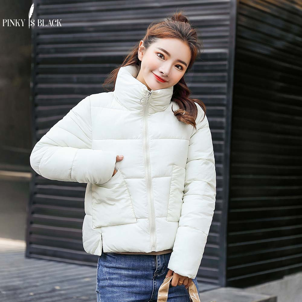 PinkyIsBlack New Winter Jacket Women Stand Collar Warm Jackets Coat Female Thick Outwear Winter Coat Women Ladies Short   Parkas
