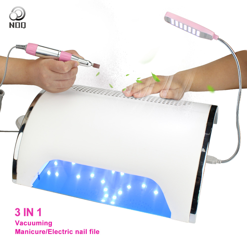 NOQ a Vacuum Cleaner For Nails Nail Dust Collector Aspiratori Unghie UF LED Dust Collector 54W Nail Lamp UV Therapy lamp Drill 1pc laser drill buddy drill dust collector diy