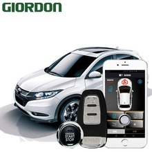 Vezel 17 car accessories Keyless Entry Comfort System PKE Phone APP Remote Start Car Engine Alarm Push  913