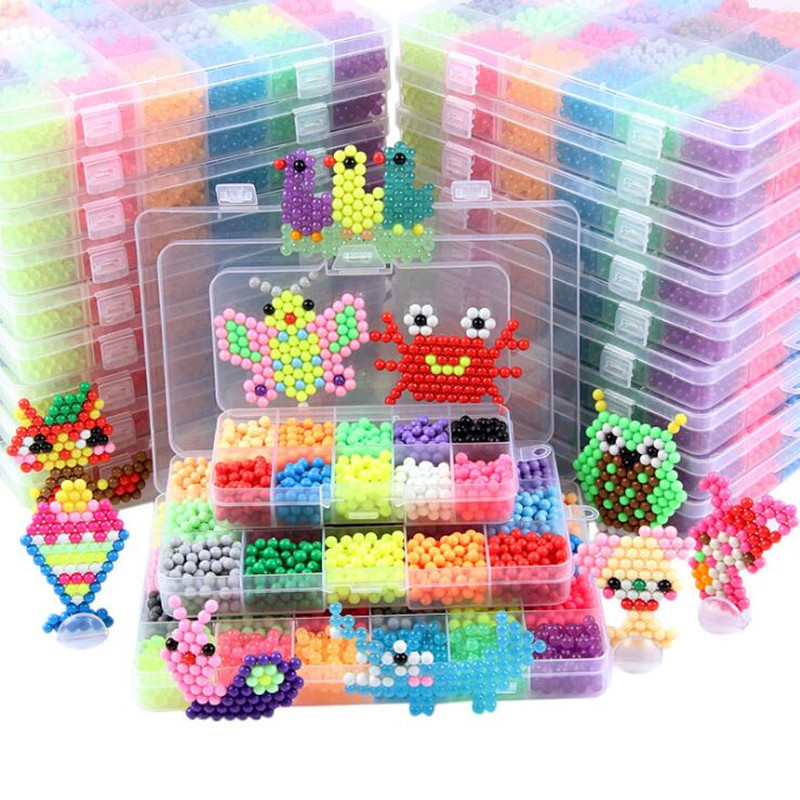 30 Colors 13500 pcs 5mm Water Stick Magic Beads DIY 3d Puzzles Toys Set Hama Beads Children Gift Educational Kids Toys(China)