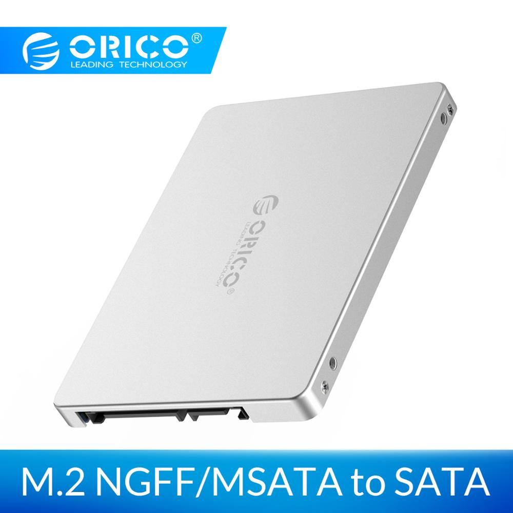 ORICO Dual M.2 NGFF <font><b>MSATA</b></font> to <font><b>SATA</b></font> 3.0 SSD To 2.5 Inch Convertor <font><b>Adapter</b></font> Card Support SSD Type 2230 2242 2260 2280 for Samsung image